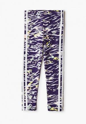 Леггинсы adidas Originals. Цвет: фиолетовый