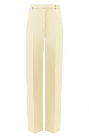 Однотонные брюки со стрелками Dries Van Noten. Цвет: кремовый