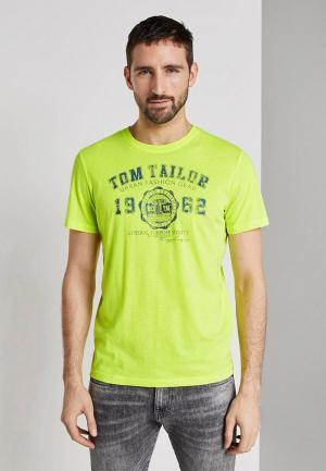 Футболка Tom Tailor. Цвет: желтый