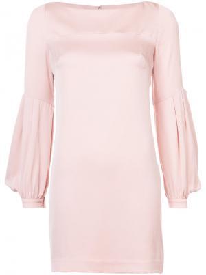 Платье с расклешенными рукавами Milly. Цвет: розовый и фиолетовый