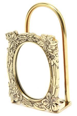 Зеркало с держателем для бумаг Stilars. Цвет: золотой