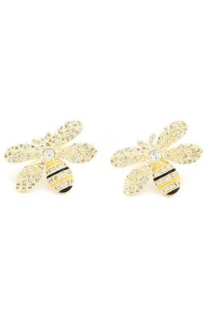 Серьги Пчелки BEATRICI LUX. Цвет: желтый