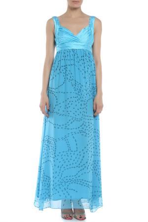 Платье Braude. Цвет: голубой