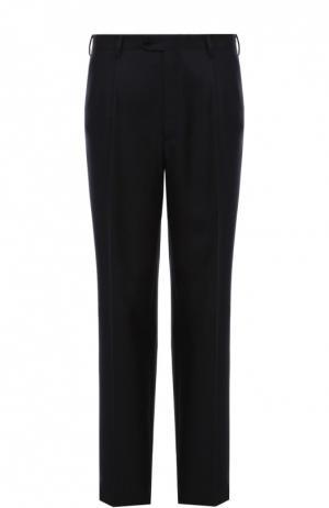 Классические брюки из смеси шерсти и шелка Brioni. Цвет: темно-синий
