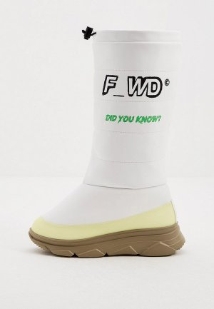 Дутики F_WD. Цвет: белый