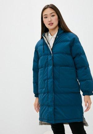 Куртка утепленная Macleria. Цвет: бирюзовый