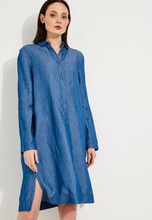 Платье Escada Sport. Цвет: синий