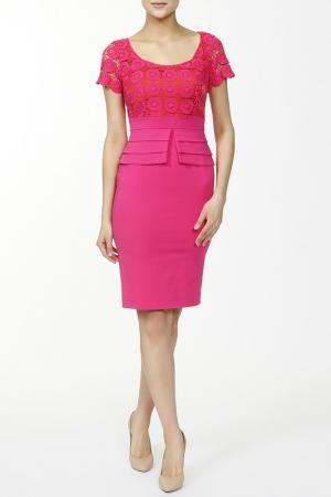 Платье CLIPS. Цвет: розовый