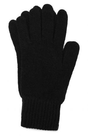 Шерстяные перчатки Daniele Fiesoli. Цвет: черный