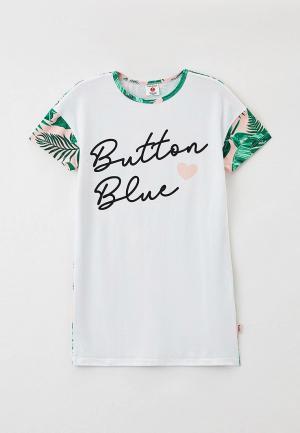 Сорочка ночная Button Blue. Цвет: белый