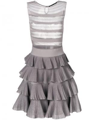 Платье с оборками Antonino Valenti. Цвет: серый