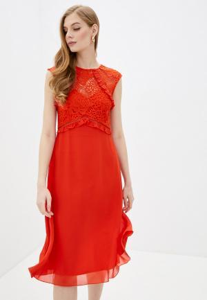 Платье Little Mistress. Цвет: оранжевый