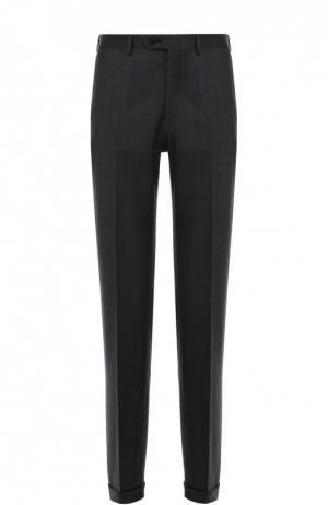 Классические шерстяные брюки Brioni. Цвет: темно-серый
