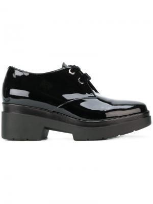 Туфли со шнуровкой на платформе Albano. Цвет: чёрный