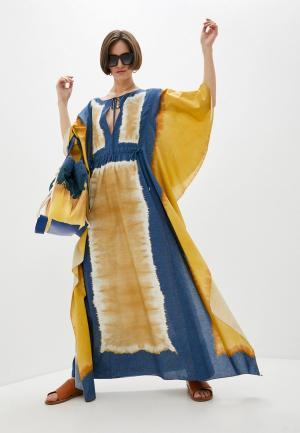 Платье Alberta Ferretti. Цвет: разноцветный
