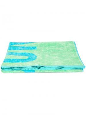 Пляжное полотенце с логотипом Moschino. Цвет: зелёный