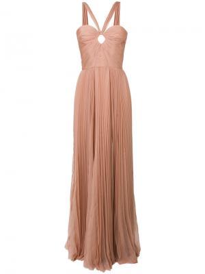 Приталенное расклешенное платье-бюстье Dsquared2. Цвет: телесный