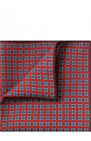 Шелковый платок Brioni. Цвет: красный
