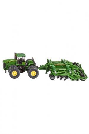 Трактор c прицепом-плугом SIKU. Цвет: зеленый