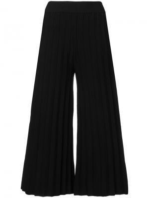 Плиссированные брюки колор-блок Derek Lam 10 Crosby. Цвет: чёрный