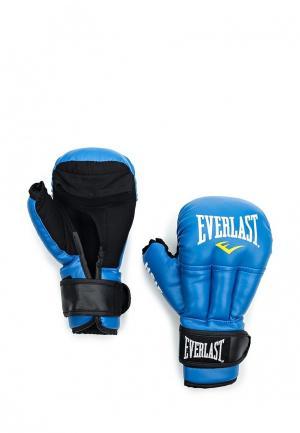 Перчатки для рукопашного боя Everlast. Цвет: синий