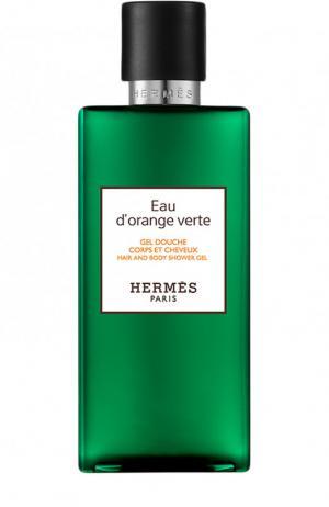 Гель для душа Eau dorange verte Hermès. Цвет: бесцветный