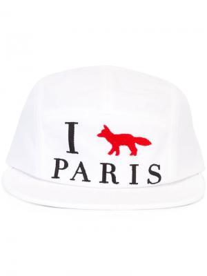 Кепка I Paris Maison Kitsuné. Цвет: белый
