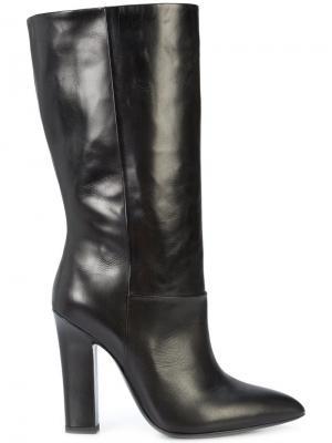 Сапоги с заостренным носком Deimille. Цвет: чёрный