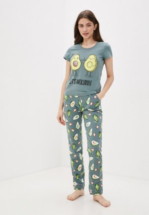 Пижама Winzor. Цвет: зеленый