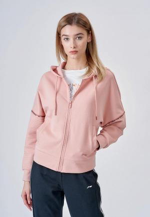 Толстовка Li-Ning. Цвет: розовый