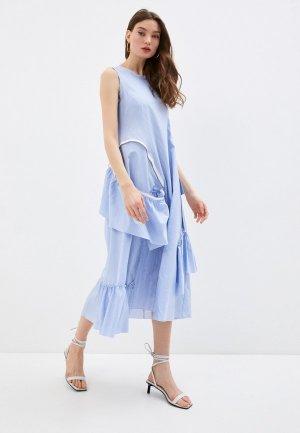 Платье Iceberg. Цвет: голубой