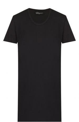 Хлопковая футболка с круглым вырезом Roque. Цвет: черный