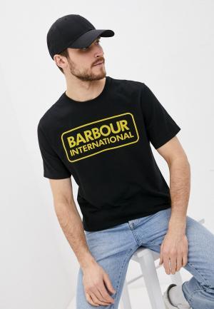 Футболка Barbour. Цвет: черный