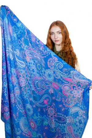 Платок LAURA BIAGIOTTI. Цвет: синий