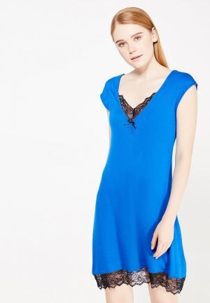 Сорочка ночная Infinity Lingerie. Цвет: синий