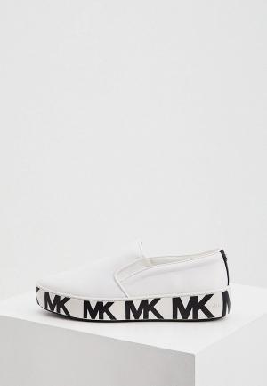 Слипоны Michael Kors. Цвет: белый