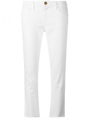 Укороченные джинсы кроя скинни Current/Elliott. Цвет: белый