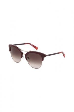 Солнцезащитные очки FURLA. Цвет: красный