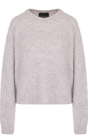 Пуловер из смеси шерсти и кашемира Erika Cavallini. Цвет: серый