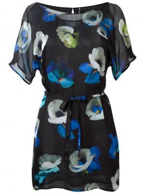 Платье Ebone Minimarket. Цвет: синий