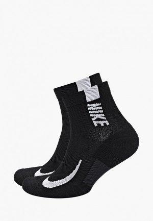 Носки 2 пары Nike. Цвет: черный