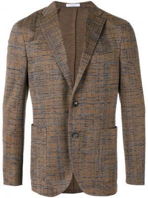 Тканый пиджак Boglioli. Цвет: коричневый