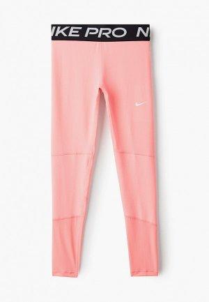 Тайтсы Nike. Цвет: коралловый