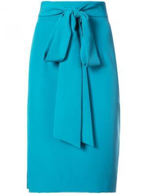 Классическая юбка-карандаш Milly. Цвет: синий
