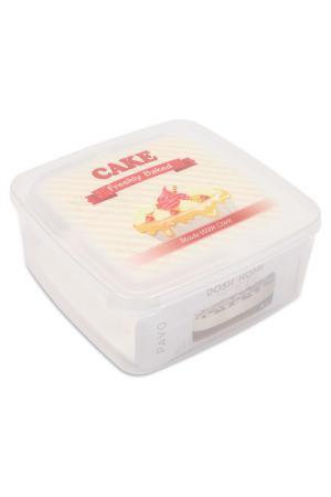 Контейнер для пирожных PAVO, 4 л DOSH I HOME. Цвет: белый