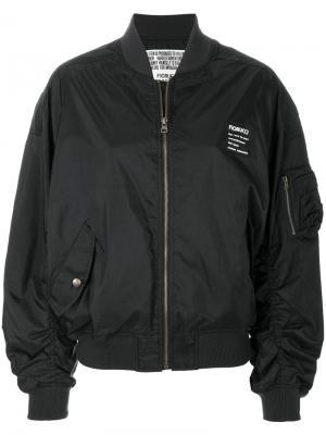 Куртка-бомбер с карманами в стиле карго Fiorucci. Цвет: чёрный