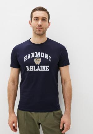 Футболка Harmont & Blaine. Цвет: синий
