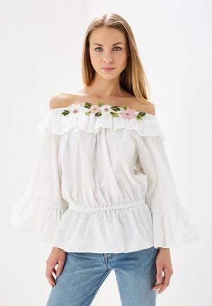 Блуза Brigitte Bardot. Цвет: белый