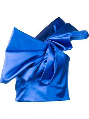 Плиссированное бюстье Saint Laurent. Цвет: синий