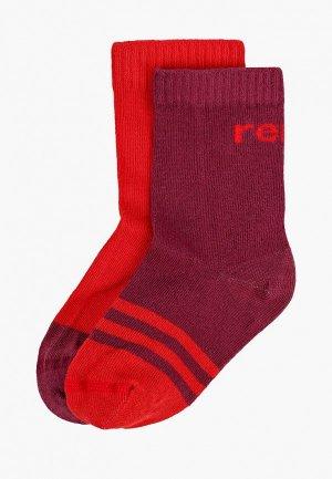 Носки 2 пары Reima. Цвет: разноцветный